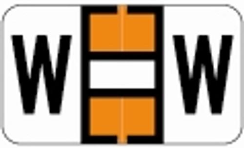 SafeGuard Alphabetic Labels - 511 Series (Sheets for binder) W- Dk. Orange