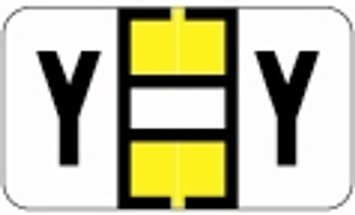 SafeGuard Alphabetic Labels - 514 Series (Rolls) Y- Yellow