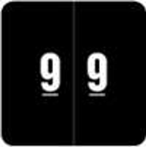 Smead Numeric Label - DCC Series (Rolls) - 9 - Black