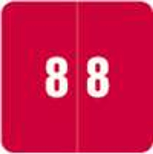 Smead Numeric Label - DCC Series (Rolls) - 8 - Red