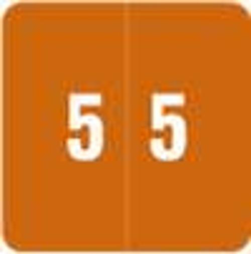 Smead Numeric Label - DCC Series (Rolls) - 5 - Brown