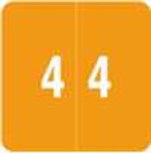 Smead Numeric Label - DCC Series (Rolls) - 4 - Orange