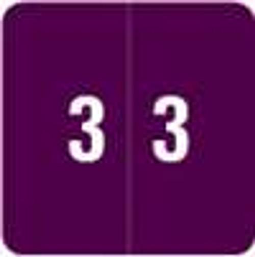 Smead Numeric Label - DCC Series (Rolls) - 3 - Purple
