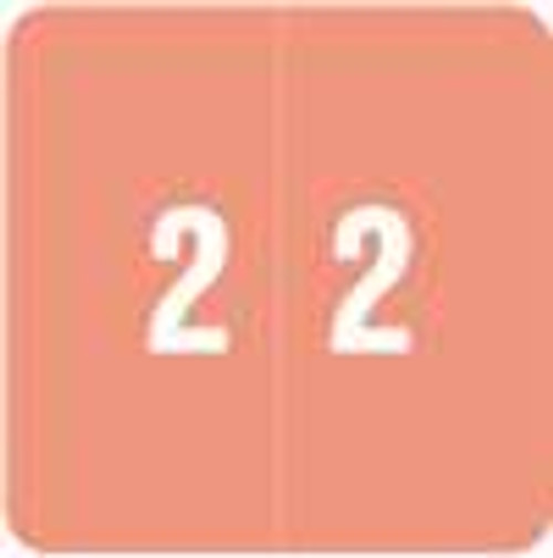 Smead Numeric Label - DCC Series (Rolls) - 2 - Pink