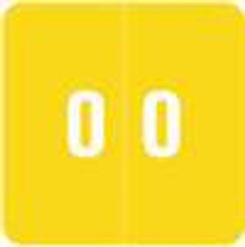 Smead Numeric Label - DCC Series (Rolls) - 0 - Yellow