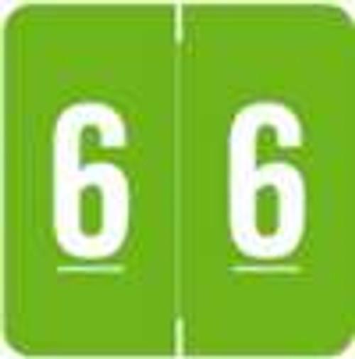 Smead/Barkley Numeric Label - FNSDM Series (Rolls) - 6 - Green