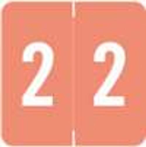 Smead/Barkley Numeric Label - FNSDM Series (Rolls) - 2 - Pink
