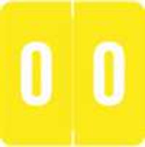 Smead/Barkley Numeric Label - FNSDM Series (Rolls) - 0 - Yellow