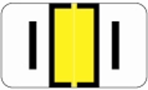 SafeGuard Alphabetic Labels - 514 Series (Rolls) I- Yellow