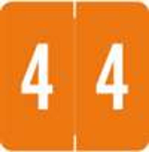 Smead/Barkley Numeric Label - FNSDM Series (Rolls) - 4 - Orange