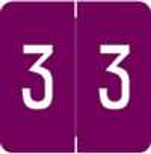 Smead/Barkley Numeric Label - FNSDM Series (Rolls) - 3 - Purple
