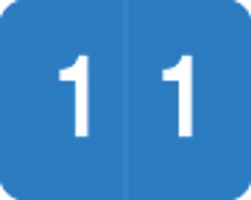 Smead Numeric Label - DCCRN Series - #1 - Blue - 500/Roll