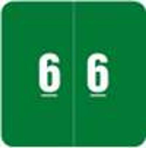 Smead Numeric Label - DCC Series (Rolls) - 6 - Green