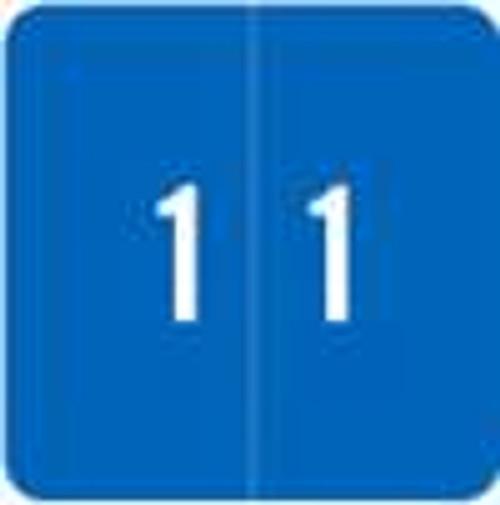 Smead Numeric Label - DCC Series (Rolls) - 1 - Lt. Blue