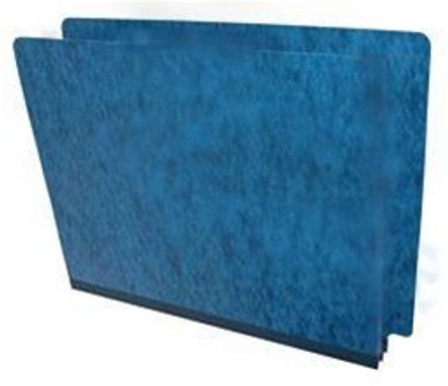 "End Tab Pressboard Folder - 2"" Expansion - Letter Size - No Fasteners - Pacific Blue"