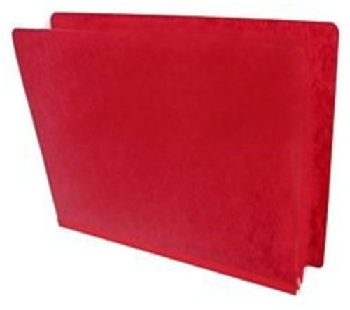"End Tab Pressboard Folder - 2"" Expansion - Letter Size - No Fasteners - Red"