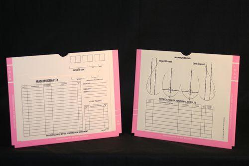 Medical Folder Mammography Film Jacket.  Blue Boarder 11 pt. Manila Stock.  Expansion = 3/4 inch.  Size 11 X 14.  200 Jackets per Carton,