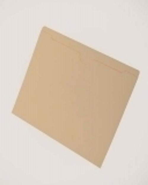 One Pocket Folder, Dental Style, Top Tab- 11 Pt.  Manila, Flat, No expansion. Letter Size; 100 Per Box