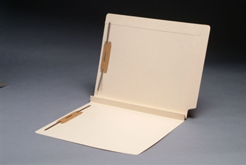 """Expansion Folder, Reinforced Top & End Tab - 1-1/2"""" Expansion - 14 Pt. Manila - Full Tab - Fasteners Position 1 & 3 - Letter Size - 50/Box"""