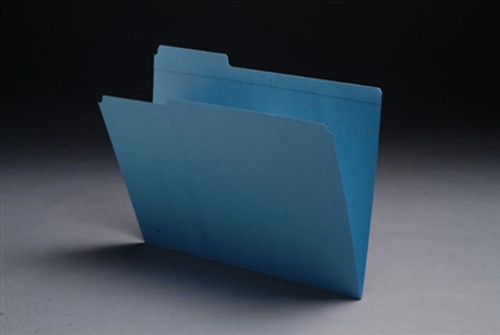 Reinforced Colored Top Tab Folders - 1/3 Cut Top Tab - Letter Size - Color Blue - 100/Box