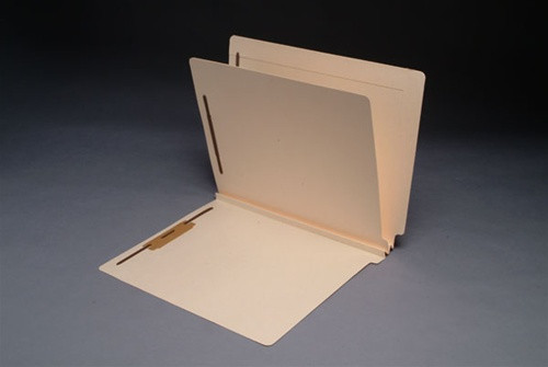 Manila End Tab Classification Folders - Letter - 4-Section - 1 Divider - 25/Box