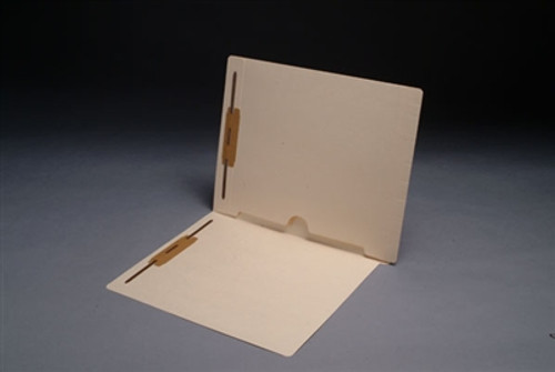 Manila Pocket Folder; End Tab with Full Pocket on Inside Right, Letter Size with 2 Fasteners in Position 1&3; Box of 50