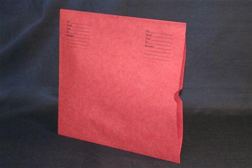 Medical Folder Heavy Duty Negative Preservers- Open End.  32 lb. Red Kraft Stock, 500 Negative Preservers per Carton, Size 14 1/2 X 17 1/2