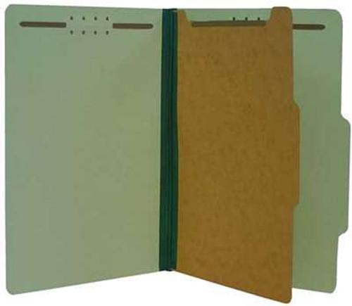 "Classification Folder 1 pt Kraft 4 in 1 2"" Expansion Green Legal"