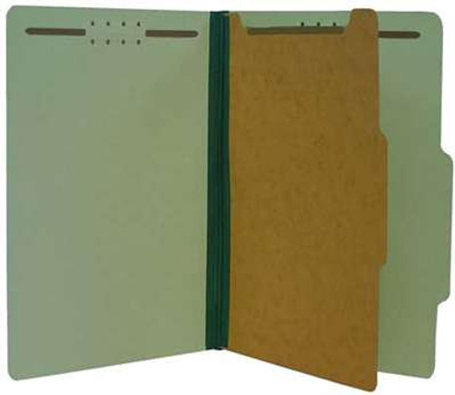 "Classification Folder 1 pt Kraft 4 in 1 2"" Expansion Green Legal"