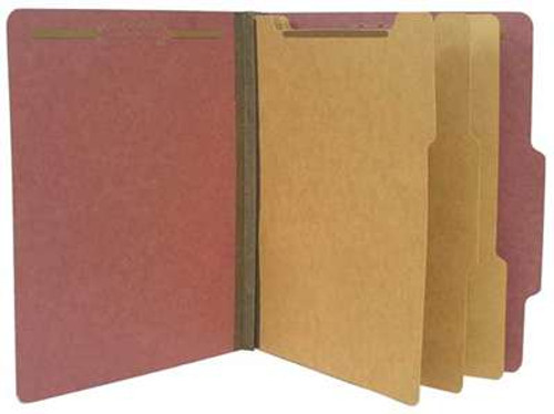 "Classification Folder, 8- in-1, 3"" Expansion, RED, Letter Size"