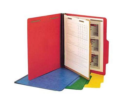 """Classification Folder Pressboard; Letter Size with 1 Kraft divider;1-1/2"""" Expansion Bright Cobalt Blue"""