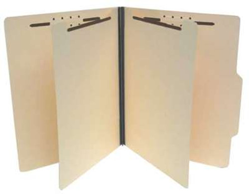 "Economy Classification Folders with 2 Dividers - Top Tab with 2/5 Cut Tab - 1""Expansion - Letter Size - 14Pt. Manila - 25/Box"