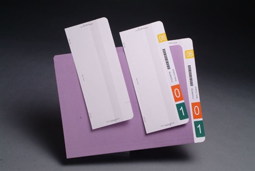 "Tabbies Convert a Tab - Use with Any Straight Cut Folder - 9-1/2""H x 3-3/4"" W (1"" Tab Extension) - White -  100/Box"
