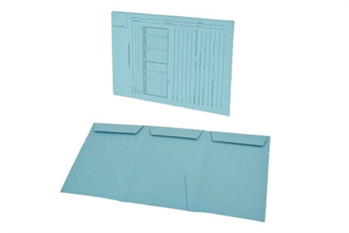 Gussco US Trademark Application - Lt. Blue - Top Tab - Tri-Fold Design, 25/Box