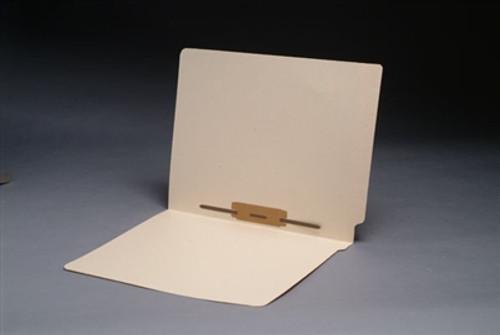 Smead Compatible End Tab Manila Folder - Letter Size - 14 Pt - Reinforced w/ Fastener in Position # 5 - 50/Box