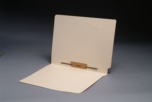 Smead Compatible End Tab Manila Folder - Letter Size - 14 Pt - Reinforced w/ Fastener in Position # 5 - 50/Box