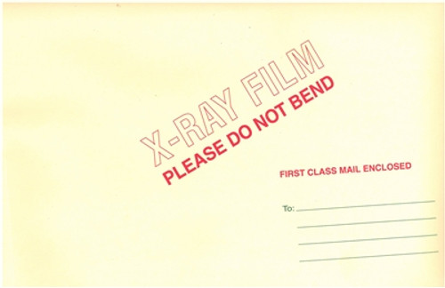 """Medical Folder Expansion X-Ray Film Mailers.  11 pt. Manila Stock. Self Sealing Closure. 50 Mailers per Carton.  Size 15 X 18, 1"""" expansion."""
