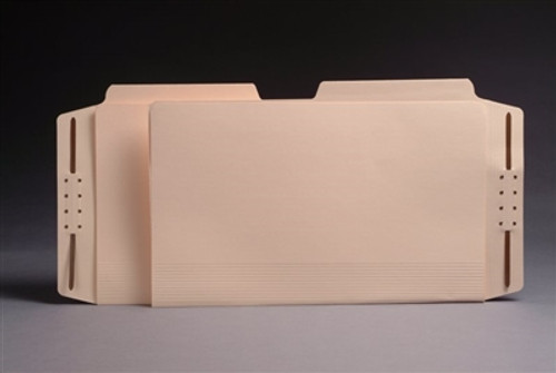 Top Tab Manila Casebinders - Legal Size - 1/2 Cut Assorted Tabs - 50/Box