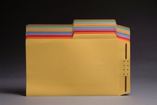 Top Tab Casebinders - Letter Size - 1/2 Cut Assorted Tabs - 50/Box - Yellow