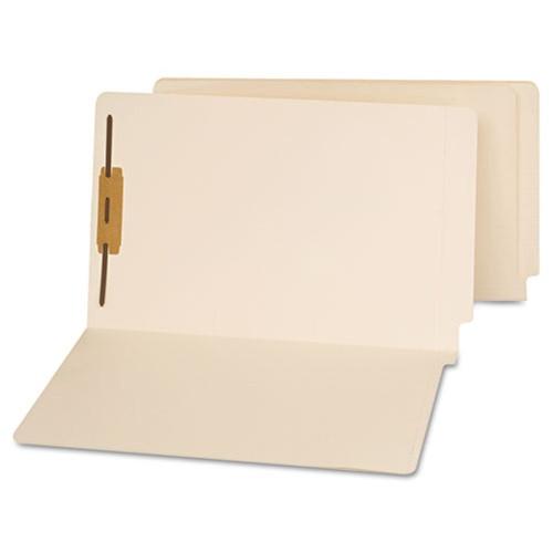 "End Tab File Folder w/ Fastener in Pos 1 - Manila - Legal Size - 14 pt - 3/4"" Expansion - 50/Box"