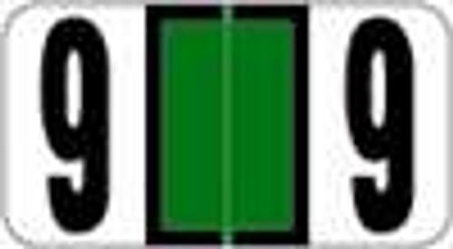 Reynolds and Reynolds Numeric Label (Rolls) - 9 - Dk. Green