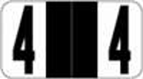 Reynolds and Reynolds Numeric Label (Rolls) - 4 - Black