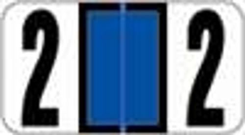 Reynolds and Reynolds Numeric Label (Rolls) - 2 - Dk. Blue