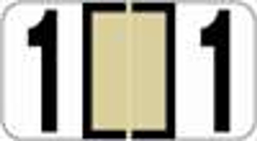 Reynolds and Reynolds Numeric Label (Rolls) - 1 - Tan