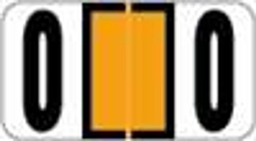 Reynolds and Reynolds Numeric Label (Rolls) - 0 - Orange