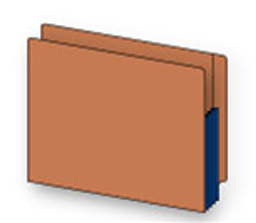 Redrope File folders, Legal Size, Red Gusset, 5 1/4 inch Accordion Expansion, Box of 10 1
