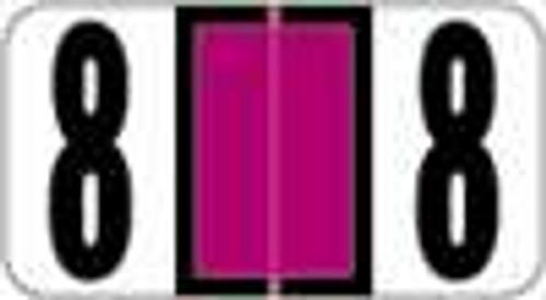 Reynolds and Reynolds Numeric Label (Rolls) - 8 - Purple
