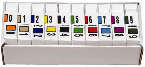 Reynolds and Reynolds Numeric Label (Rolls) - 0-9 Set with tray