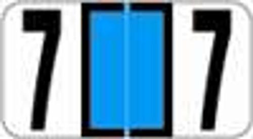 Reynolds and Reynolds Numeric Label (Rolls) - 7 - Lt. Blue