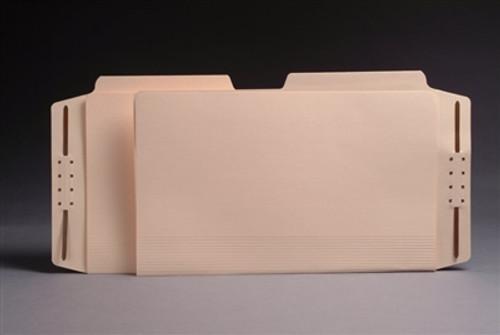 Top Tab Manila Casebinders - Letter Size - 1/2 Cut Assorted Tabs - 50/Box